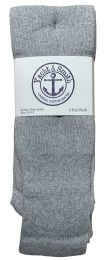 Yacht & Smith Men's Cotton 28 Inch Tube Socks, Referee Style, Size 10-13 Solid Gray BULK BUY 240 pack
