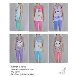 Ladies Summer PJ Set 72 pack