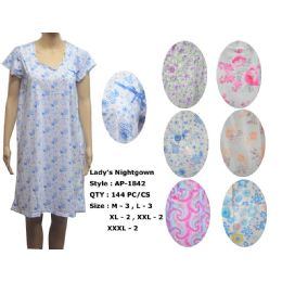 Ladies Summer NIghtgown Assorted Styles 72 pack