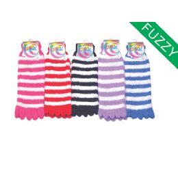 Womens Fuzzy Fur Lined Cotton Socks Assorted Color 120 pack