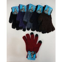 Ladies Chenille Touch Screen Gloves 24 pack
