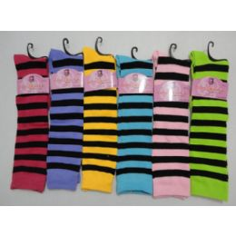 "12"" Knee High Socks-Stripes 12 pack"