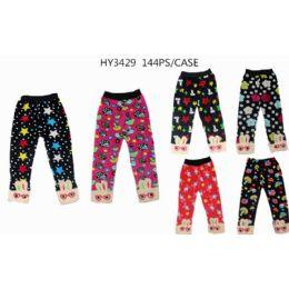 Girls Printed Leggings Assorted Sizes 72 pack