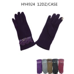 Ladies Touch Screen Winter Gloves Assorted Color 36 pack