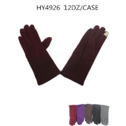 Ladies Winter Touch Screen Gloves Assorted Color 36 pack