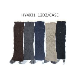 Woman's Long Winter Leg Warmer Assorted Color 48 pack