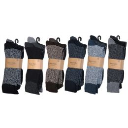 Men's Heavy Boot Socks In Size 10-13 And Assorted Colors 60 pack