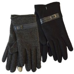 Winter Ladies Sensitive Touch Gloves with Buckle 24 pack