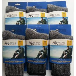 MERINO WOOL POLAR HIKER SOCKS MEN'S AND WOMEN'S SIZE LARGE 24 pack