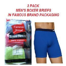 FRUIT LOOM - HANES 3 PACK MEN'S BOXER BRIEFS / FAMOUS BRAND PK. 48 pack