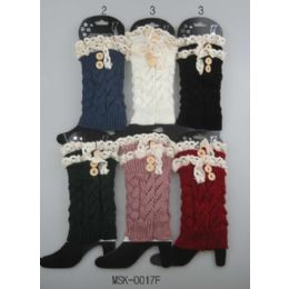 Knitted Boot Topper Lace Top with buttons 24 pack