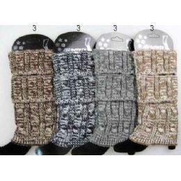 Multi-color Cable Knitted Boot toppers Leg warmers Ast 24 pack
