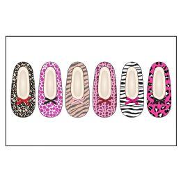 Ladies Slipper Socks With Fur- Animal Pack S-M, M-L 72 pack