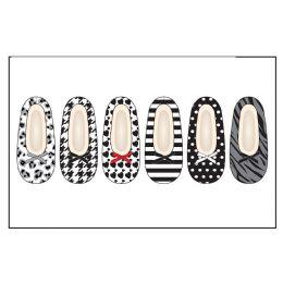 Ladies Slipper Socks Wtih Fur-Blk/Wht Pack Sizes S-M, M-L 72 pack