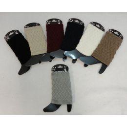 Knitted Boot Cuffs [Diamond Knit] 12 pack