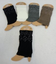 Knitted Boot Cuffs [Rhinestones] 12 pack
