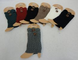 Knitted Boot Cuffs with Large Button 12 pack