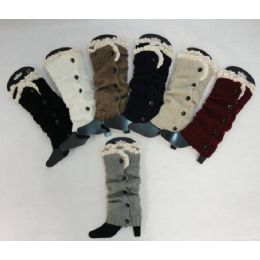 Antique Lace Knitted Long Boot Cuffs 24 pack