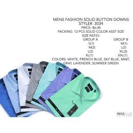 Men's Fashion Checkered Button Down Shirt (BLACK&BLUE ONLY) 24 pack