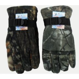 Camoflage Heavy Fleece Gloves 72 pack