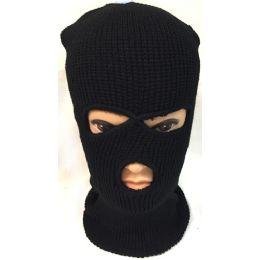 Unisex Black Ski Hat/Mask One Size Fits All 60 pack