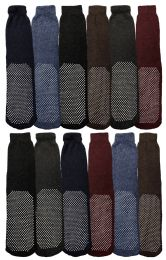 Yacht & Smith Non Slip Gripper Bottom Men's Winter Thermal Tube Socks Size 10-13 180 pack
