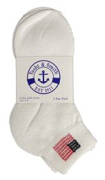 Yacht & Smith Kids Usa American Flag White Low Cut Ankle Socks, Size 6-8 Unisex 180 pack