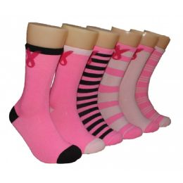 Women's Breast Cancer Awareness Crew Socks 360 pack