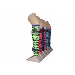 Girls Camo Pattern Knee High Socks 240 pack