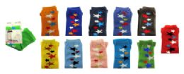 Assorted colored capri tights with star designs in a scattered line 48 pack