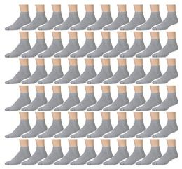 Yacht & Smith Men's Cotton Sport Ankle Socks Size 10-13 Solid Gray 180 pack