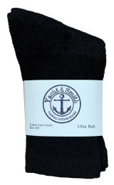 Yacht & Smith Kids Cotton Crew Socks Black Size 4-6