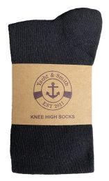 Yacht & Smith Women's Knee High Socks, Solid Colors Black 6 pack