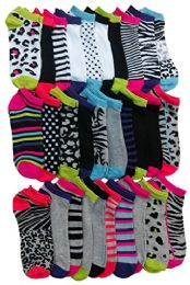 Yacht & Smith Womens 9-11 No Show Ankle Socks Assorted Prints, Mix Animal Prints 30 pack