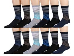 Yacht & Smith Mens Dress Socks, Cotton Blend Assorted Patterns