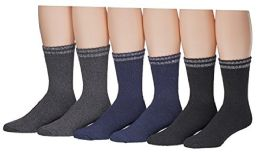 Yacht & Smith Mens Cotton Thermal Boot Socks 6 pack