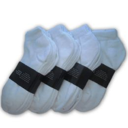 Yacht & Smith Men's No Show Ankle Socks, Cotton Size 10-13 White 48 pack