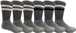 Yacht & Smith Mens Tube Socks, Old School, Sports Casual, Comfortable Cotton Blend