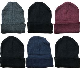 Yacht & Smith Unisex Winter Warm Acrylic Knit Hat Beanie 6 pack
