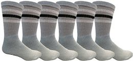 Yacht & Smith Crew Socks For Men, Cotton Athletic Sports Casual Sock 6 pack