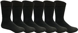 Yacht & Smith Mens Tube Socks, Comfortable Cotton Blend Size 10-13 6 pack