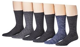 6 Pairs Of Socksnbulk Mens Cotton Weather Collection Thermal Socks 6 pack