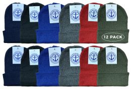 Yacht & Smith Kids Winter Beanie Hat Assorted Colors 12 pack