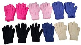 Yacht & Smith Kids Warm Winter Colorful Magic Stretch Gloves And Mittens 12 pack