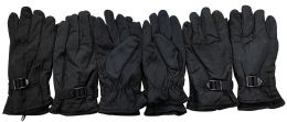 Yacht & Smith Men's Winter Warm Gloves, Fleece Lined With Black Gripper 6 pack