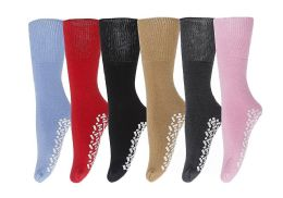 Yacht & Smith Women's Thermal Non-Slip Tube Socks, Gripper Bottom Socks 6 pack