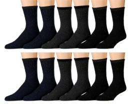 Yacht & Smith Men's Thermal Crew Socks, Cold Weather Thick Boot Socks Size 10-13 12 pack
