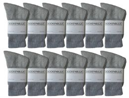 Yacht & Smith Kids Cotton Crew Socks Gray Size 6-8