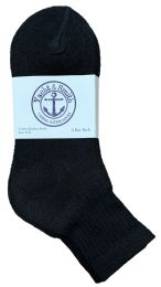 Yacht & Smith Women's Cotton Ankle Socks Black Size 9-11 6 pack