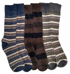 Nicole Miller Cotton Fashion Dress Socks Stripes Solids And Argyles (JW-10-13-A)